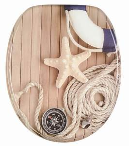 Toilettendeckel Mit Absenkautomatik : wc sitz toilettendeckel klodeckel toilettensitz mit absenkautomatik maritim ebay ~ Indierocktalk.com Haus und Dekorationen