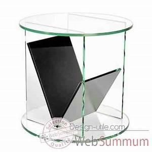 Gueridon En Verre : gu ridon marais rond en verre clair recuit dans table basse design marais design ~ Teatrodelosmanantiales.com Idées de Décoration