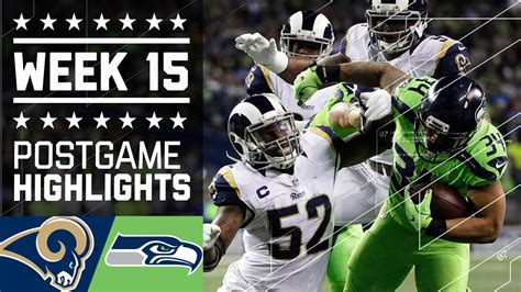 rams  seahawks nfl week  game highlights youtube