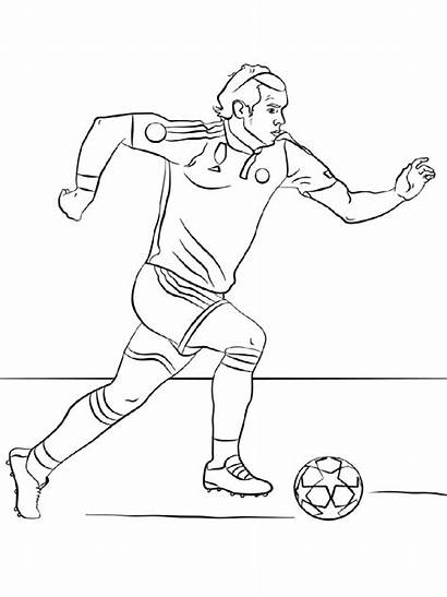 Soccer Coloring Pages Player Boys Players Printable