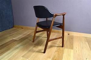 Fauteuil Bureau Scandinave : fauteuil de bureau design scandinave en teck vintage 1960 design vintage avenue ~ Teatrodelosmanantiales.com Idées de Décoration