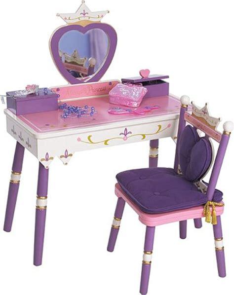 princess vanity set pink makeup mirror seat