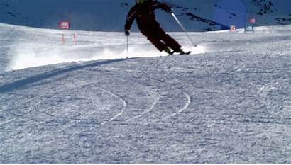 Skiing Carving Edge Skier Down Carve Wide