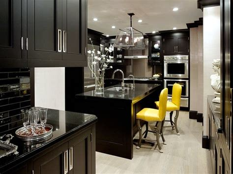 Black Kitchen Furniture by Black Kitchen Furniture And Fancy Details For Your