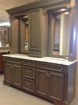 double vanity  linen tower middle google search