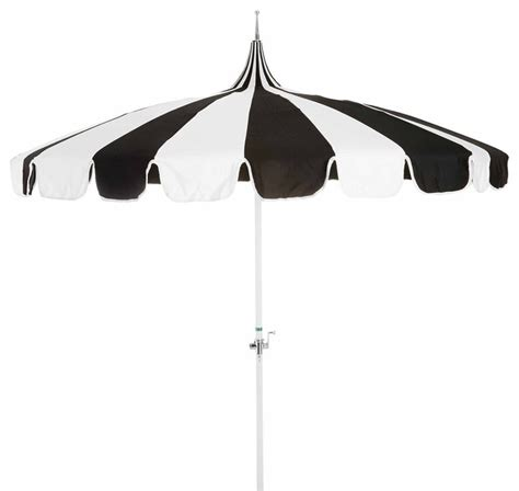 Black And White Striped Patio Umbrella by Pagoda Patio Umbrella Black White Contemporary