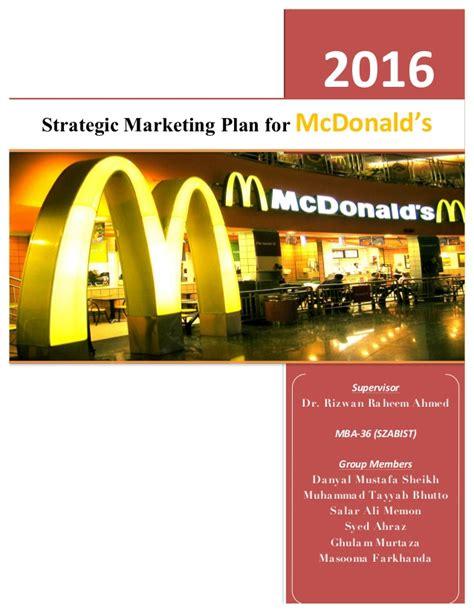 sm marketing plan mc donalds