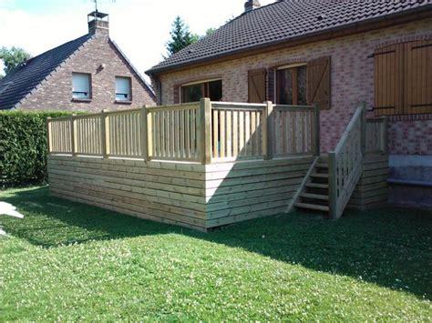 terrasse surelevee en bois prix terrasse autoportante vente terrasses bois pas cher
