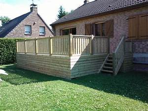 terrasses en bois composite construction terrasse bois With terrasse en bois surelevee