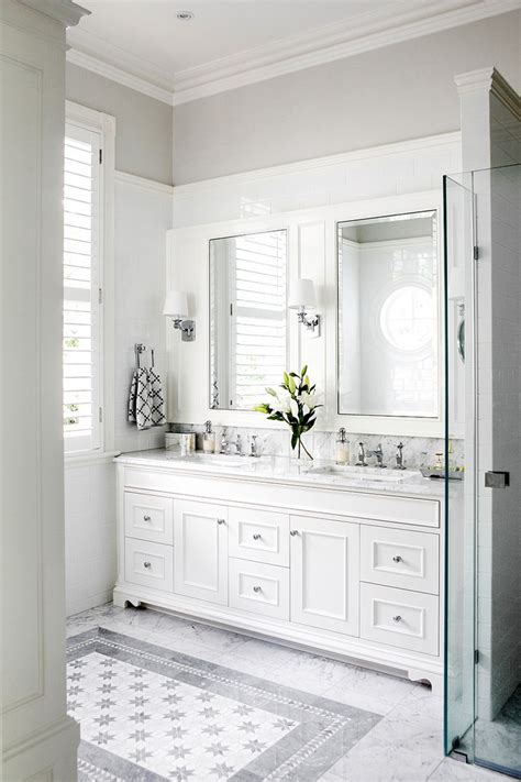 White Cabinets In Bathroom by Minimalist White Bathroom Designs To Fall In