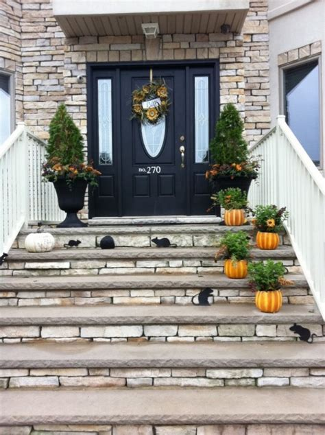 front step decorating ideas 120 fall porch decorating ideas shelterness