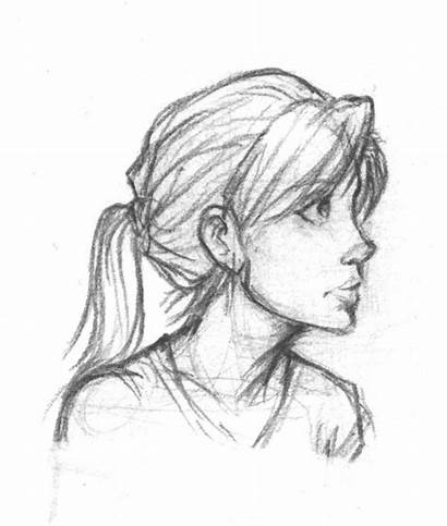 Drawing Profile Face Side Sketch Portrait Human