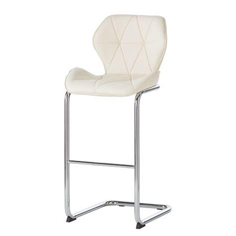 chaise de bar blanc chaise de bar onega imitation cuir blanc roomscape par roomscape chez home24 fr