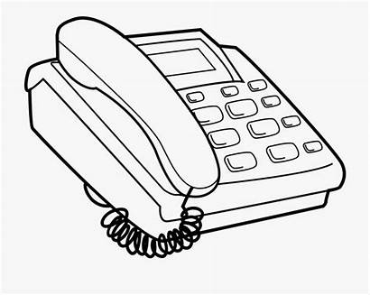 Telephone Clipart Phone Svg Coloring Push Smartphone