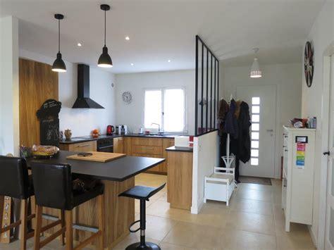 cuisine couleur bois rénovation partielle maison ées 80 mérignac home et