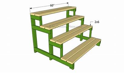 Plant Stand Outdoor Stands Slats Plans Attaching
