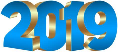 2019 Blue Gold Png Clip Art