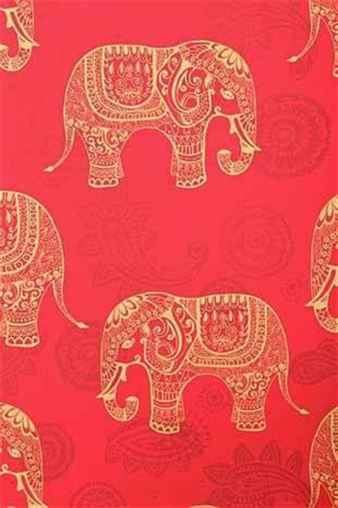 walls  love red elephant removable wallpaper