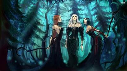 Forest Witches Fantasy Witch Wallpapers Wiccan Pentacle