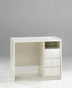 Schreibtisch Weiß Schubladen : schreibtisch kinderschreibtisch mit 3 schubladen aus mdf wei lackiert kaufen bei saku system ~ Orissabook.com Haus und Dekorationen