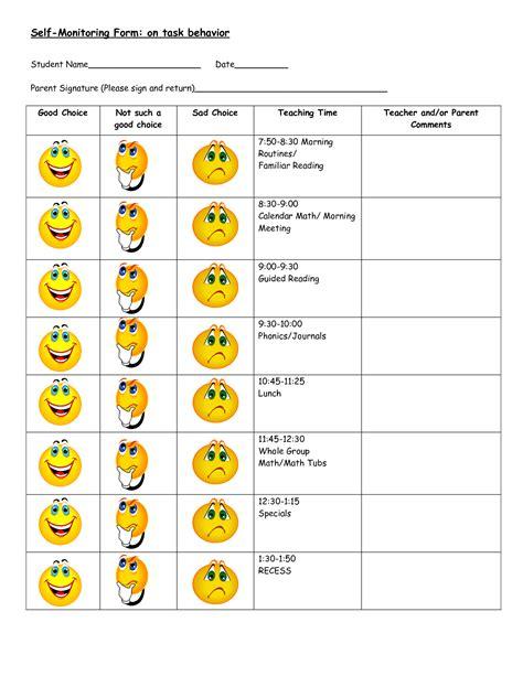 Behavior Modification Worksheet by Free Behavior Worksheets Search Negative