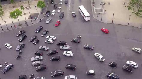 craziest roundabout  europe arc de triomphe