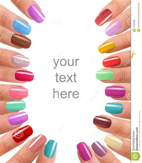 fingernail colors funky fingers nail stock photo image 41489089