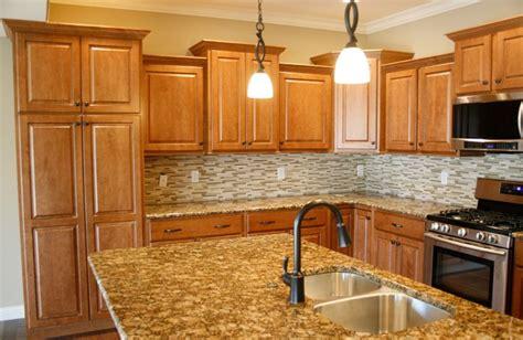 maple kitchen cabinets  granite countertops maple