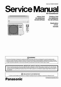 Panasonic Air Conditioner Service Manual