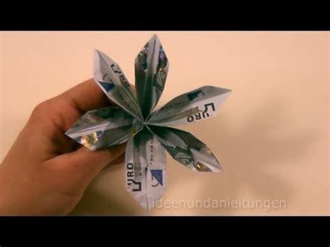 geldscheine falten blume geldgeschenke basteln geld