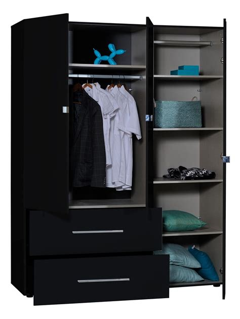 Buy Black Wardrobe by 3 Door Gloss Black Mirrored Wardrobe Fads