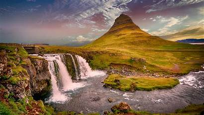 River Nature Waterfall Mountains Hills Landscape Odyssey