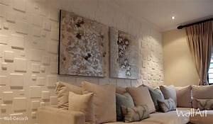 Deco salon : idee deco salon moderne - 3D WallArt