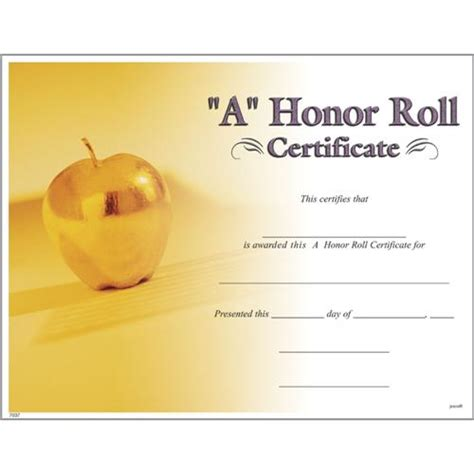 honor roll certificates photo  honor roll certificate
