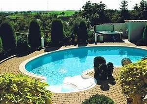 gartenoase mit swimmingpool und whirlpool fur aussen With whirlpool garten mit balkon lampen außen