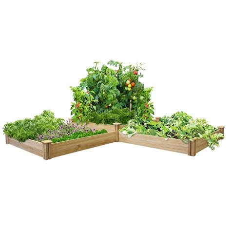 greenes fence raised garden bed greenes fence 2 ft x 8 ft x 10 5 in cedar raised garden