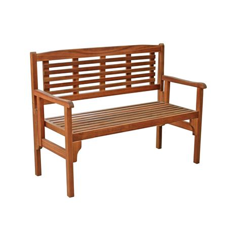 banc en bois de jardin banc 2 places de jardin en bois porto brun leroy merlin