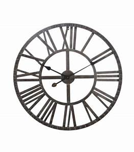 Horloge Murale Chiffre Romain : grande horloge murale ronde fer marron chiffres romains ~ Teatrodelosmanantiales.com Idées de Décoration