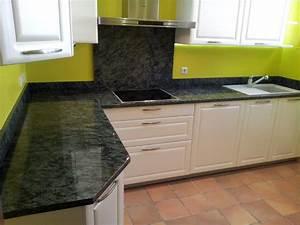 Plan De Travail Granit : plan de travail en granit pour cuisine plan de travail ~ Dailycaller-alerts.com Idées de Décoration