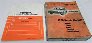 1988 Toyota Tercel Sedan Service Shop Repair Manual