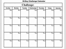Printable 30 Day Workout Calendar Calendar Template 2018