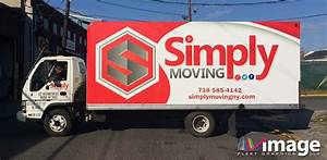 simply moving bronx ny isuzu npr box truck wrap image With truck lettering bronx ny