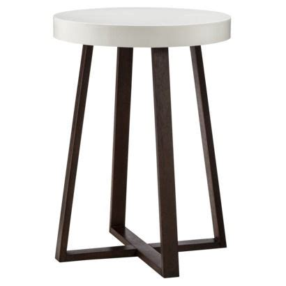 nursery side table ideas threshold accent table triangle with white top espresso