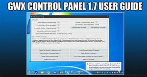 Ultimate Outsider  Gwx Control Panel 1 7 User Guide