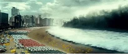 Tsunami Natural Disaster Maremoto Gifs Prepare Wave