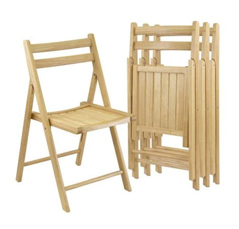 winsome natural solid wood folding chairs walmart canada