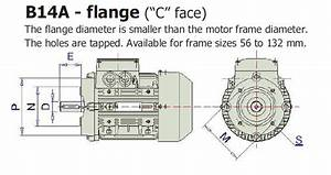 B14 Flange 1 5kw 2hp 1400pm 24shaft Mm Electric Motor
