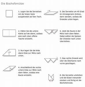 Servietten Falten Bischofsmütze : servietten falten design bischofsm tze servietten falten tischkultur ~ Orissabook.com Haus und Dekorationen