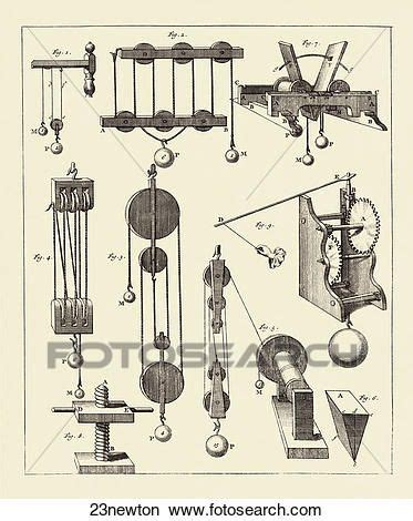 antique engraving depicting newtonian physics confirmed