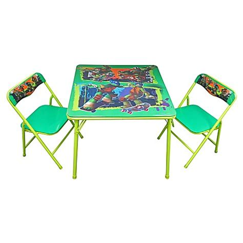 activity table and chairs tmnt 3 piece activity table and chairs set bed bath beyond